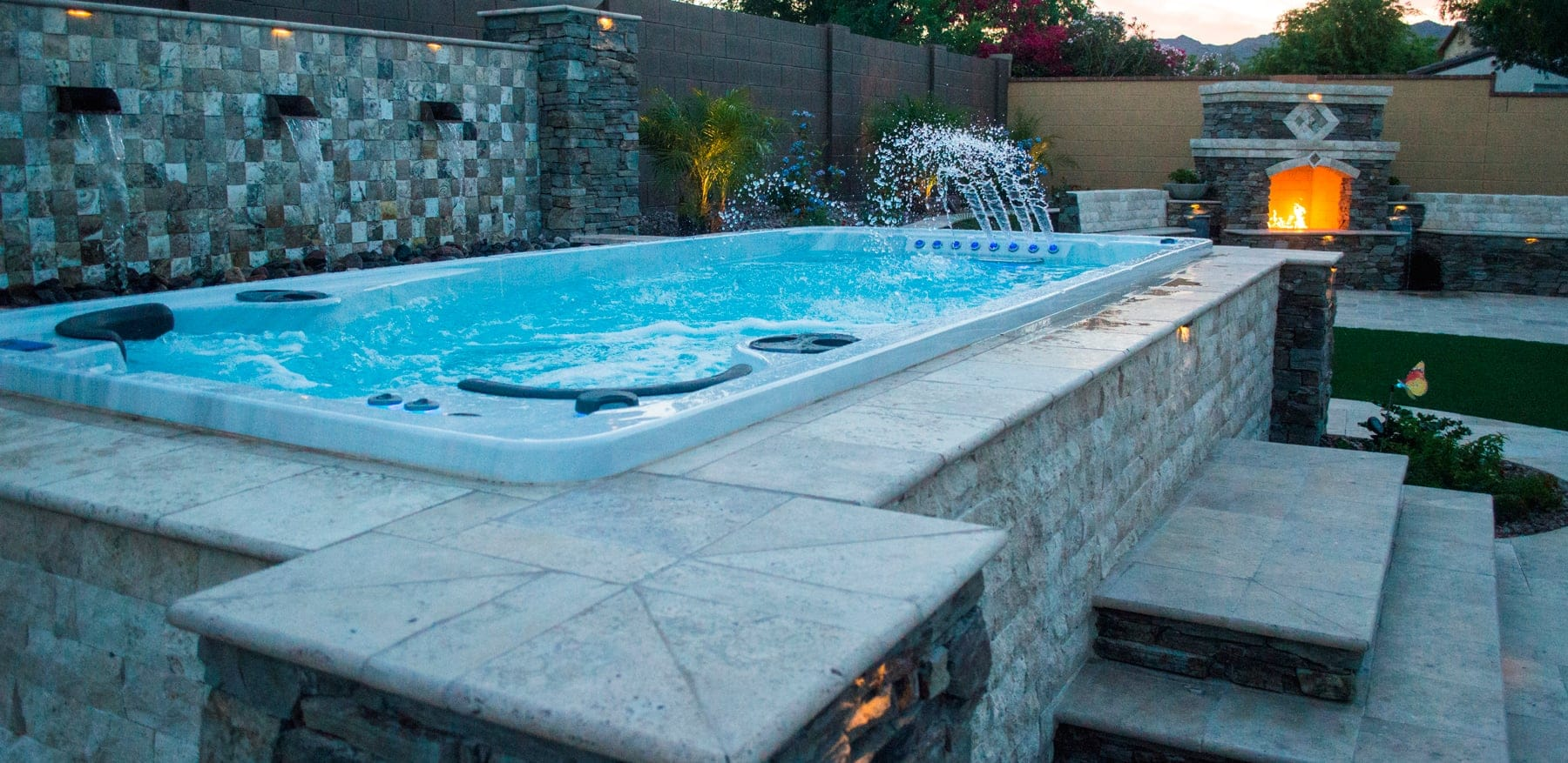 Swim spa installation ideas brady 39 s pool spa for Swimming pool spa designs