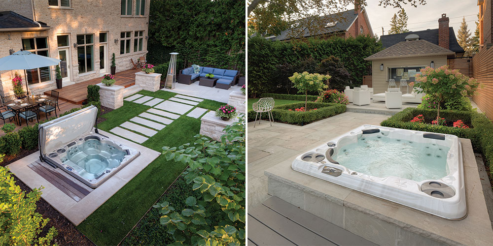 Hot Tub Swim Spa Landscaping Ideas Brady S Pool Spa