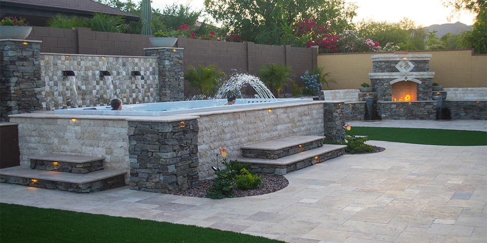 ideas for landscaping around your swim spa
